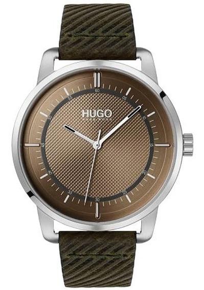 Relógio Hugo Boss Masculino Couro Verde