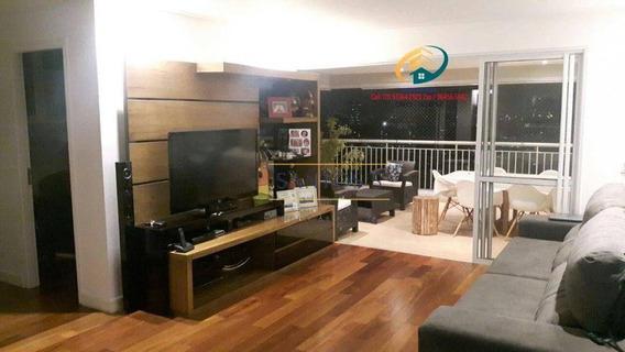 Apartamento Com 3 Dormitórios À Venda, 160 M² Por R$ 1.300.000,00 - Santo Amaro - São Paulo/sp - Ap0544
