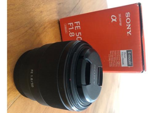 Imagem 1 de 6 de Lente Sony 50mm 1.8 Fe Full Frame - Perfeito Estado