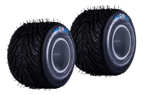 Par De Neumáticos Traseros Para Karting Pronec De Lluvia