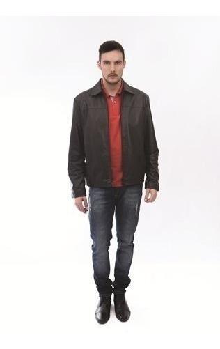 Jaqueta De Couro Legítimo Masculina Comprida X125