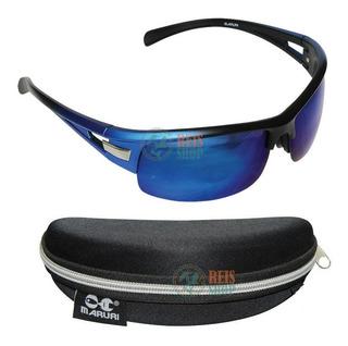 Óculos P/ Pesca Maruri® Polarizado Espelhado Azul #6501