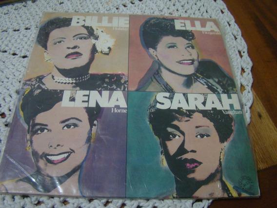 Lp Billie , Ella , Lena , Sarah - Ótimo Estado