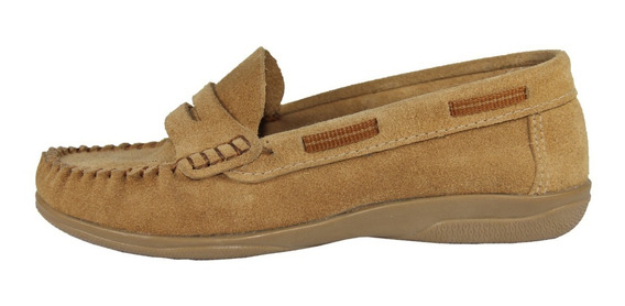 Zapato Infantil Klivers De Gamuza Beige 35 Al 40