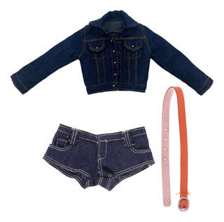 Traje Jeans De Ropa De Accesorio Vestido De Moda Para