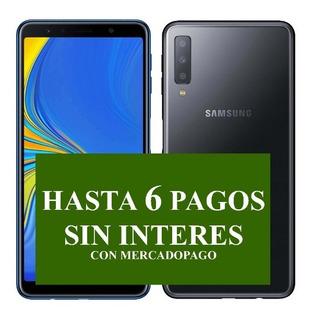 Samsung A7 Triple Cam 64gb 24 Mpx Azul No A20 A50 A30