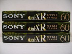 3 Fitas K7 Sony Xr60 - Metal Class - Type Iv - Lacradas