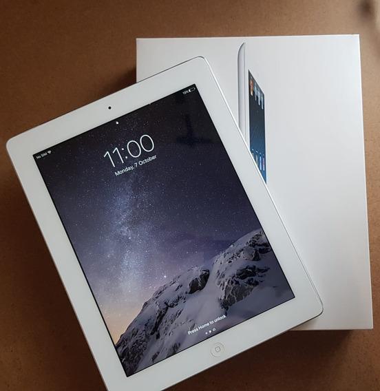 iPad Branco 4 64gb Wifi 4g Celular Original Na Caixa + Nota