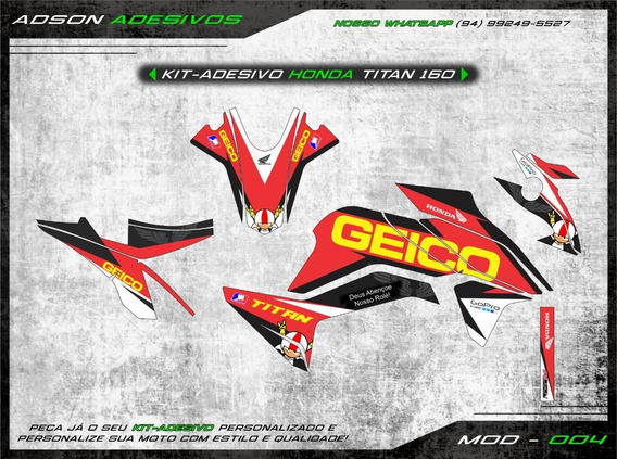 Kit Adesivo Honda Cg Titan 160 Kit Gráfico Geico