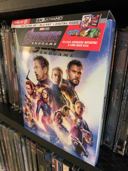 Avengers Endgame Blu Ray 4k+br+dc+digibook 3 Discos