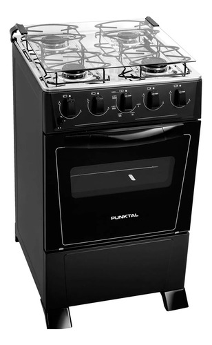 Cocina Punktal Supergas Negra Horno Luz Y Encendido 375 Dimm