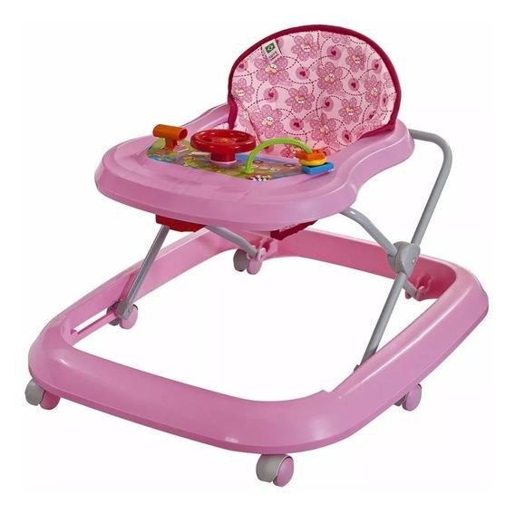 Andador Musical Toy Rosa P/ Bebê Primeiros Passos Tutti Baby