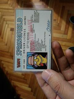 Licencia De Otto De Los Simpson - Cinetiquetas
