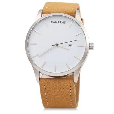 Relógio De Luxo Cor Café Cagarny 6850
