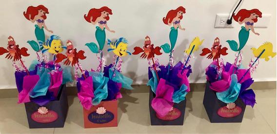 Vendo Lindos Centros De Mesa De Sirenita Ariel!