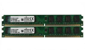 Memória Ram Kingston Ddr2 4gb 2x2gb Pc2-6400u 800mhz