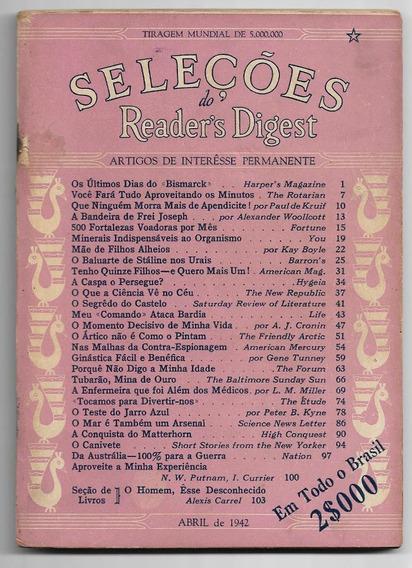 Revista Seleções Nº 3 De Abril De 1942