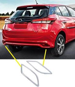 Toyota Yaris Moldura Cromada Olho Gato Traseira 2019 20xl Xs