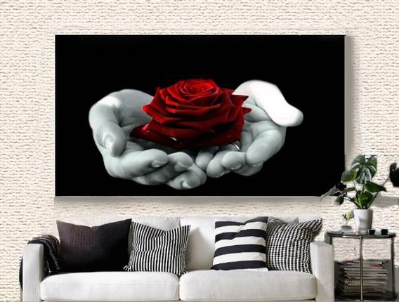 Quadro Decorativo 105x75 Rosa Vermelha (para Boate)