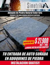Venta Adoquines De Piedra Gris Natural Instalados Precios M2
