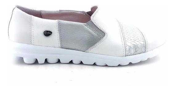 Zapatilla Mujer Cuero Cavatini Zapato Confort Goma Mczp05192