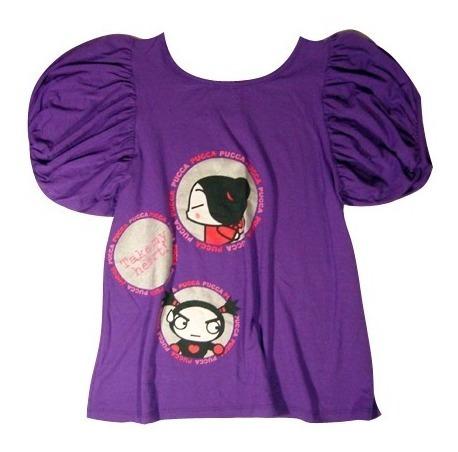 Camiseta Pucca Roxa Em Silk