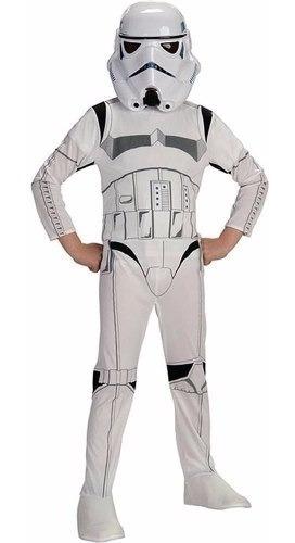 Imagen 1 de 2 de Disfraz Stormtrooper Star Wars P/ Niño - Máscara Y Traje
