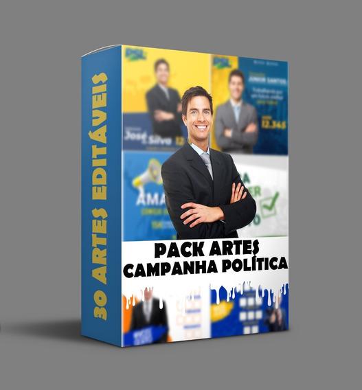 Pack 30 Artes Editáveis Campanha Política Eleições Ofertaço