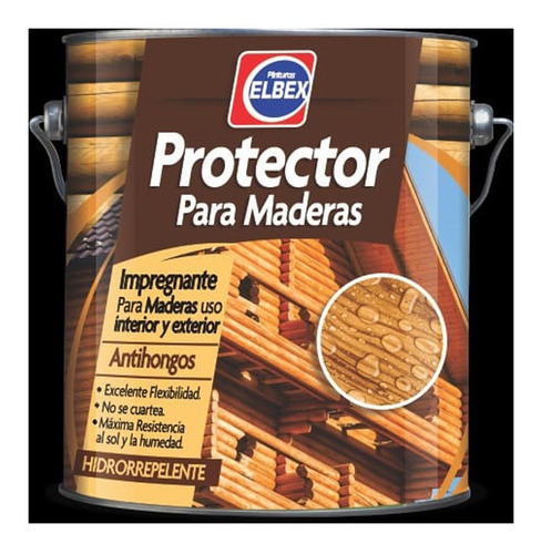 Imagen 1 de 3 de 3,6l Protector Para Madera Int Ext Elbex Varios Colores!