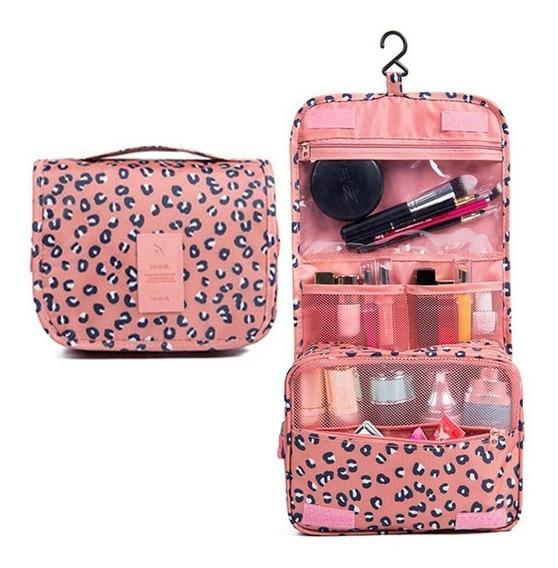 Organizador De Viaje Neceser Con Percha Bolso Cosmeticos