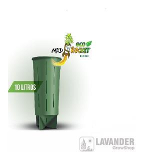 Macetas Mad Rocket 10 Litros Pro Cultivo Indoor Lavandergrow