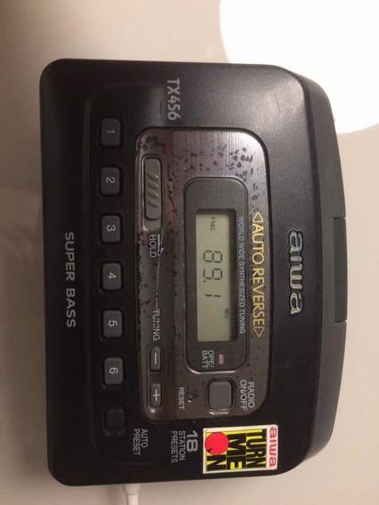 Walkman Aiwa Mod Tx-456 Stereo Auto Reverse Tudo Ok ! Show
