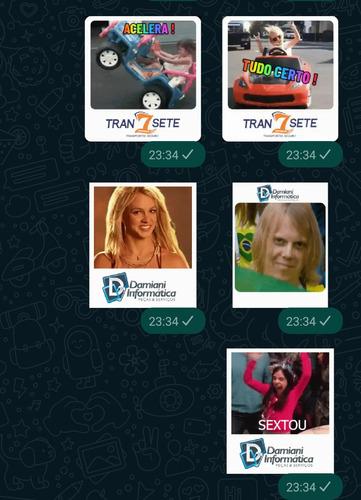 Imagem 1 de 5 de Criação De Figurinhas Comerciais Para Whatsapp