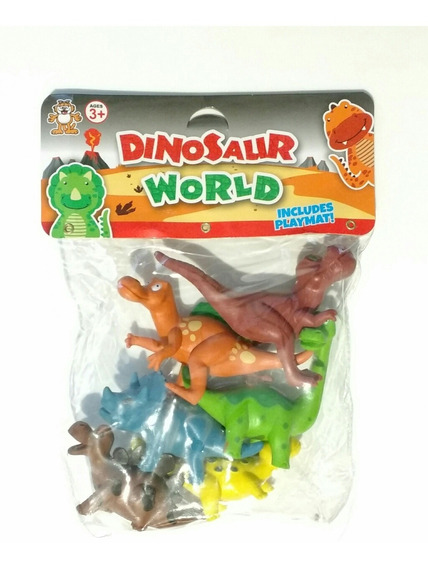 Dinosaurios Paquete 6 Pzas. Caricatura Plástico 8 Cm
