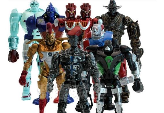 Bonecos 8 Action Figures Gigantes De Aço Real Steel Robôs