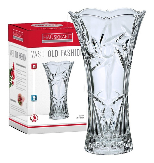 Vaso Old Fashion 22cm 800 Ml Incolor Vaso-022 Haüskraft