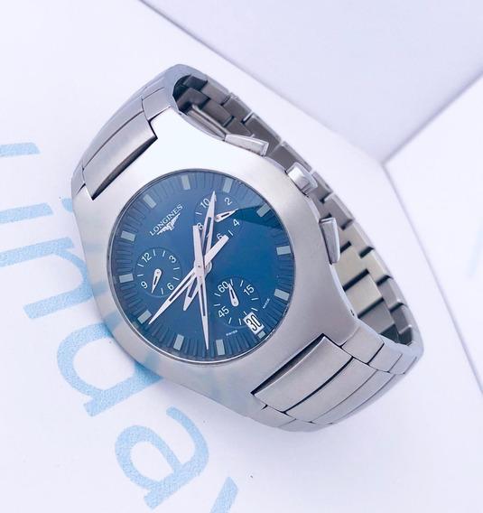 Reloj Longines Oposition Azul Cronómetro