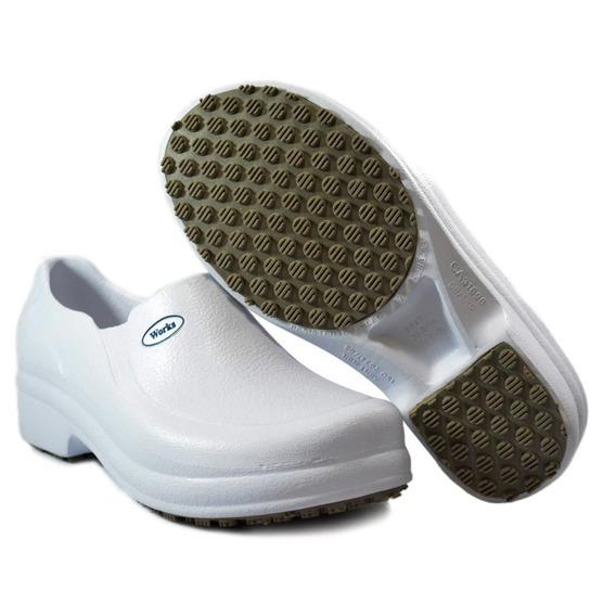 Sapato Sapatilha Hospitalar Soft Works Eva Bb65 Branco