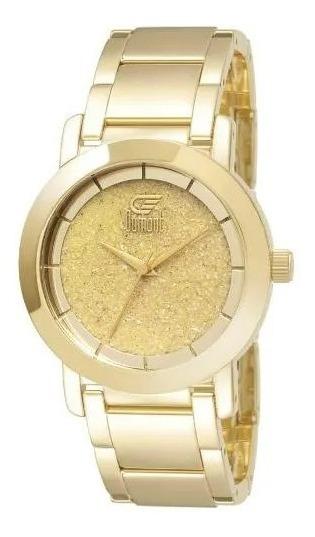 Relógio Dourado Dumont Feminino Aço Analógico Du2036ltz/4b