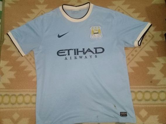 Camiseta Manchester City Nike Oficial Con Manchas Y Rotura
