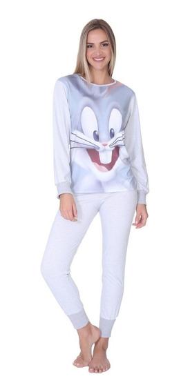 Pijama Para Dama Bugs Bunny Looney Tunes Original 3043