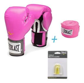Everlast - Pack Box - Vendas Algodón Rosado + Protec+guante