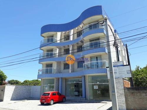Lindo Apartamento Com 2 Dormitórios À Venda, 64 M² Por R$ 250.000 - Atlântica - Rio Das Ostras/rj - Ap0598
