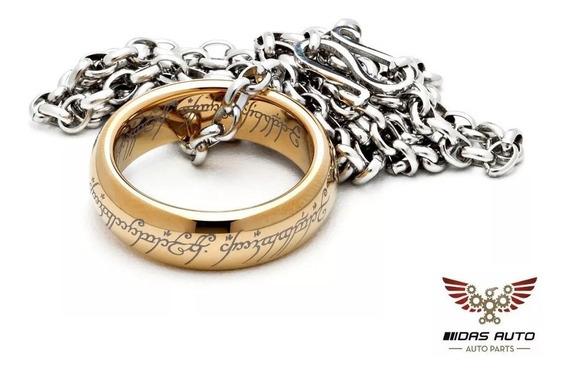 Anel My Precious Senhor Dos Anéis Ouro 18k - O Um Anel