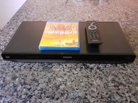 Blu-ray Philips Bdp5200 3d Dlna Usb + 1blu-ray + 5 Dvds