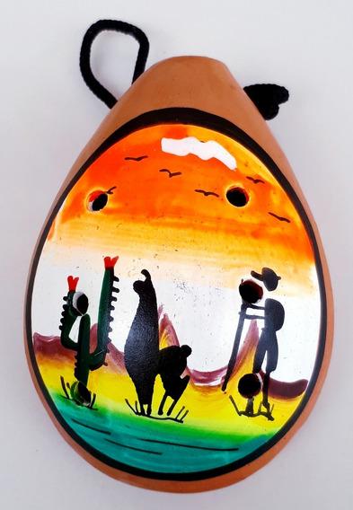 Ocarina Recuerdo Souvenir Peru Llama Artesanía Mexicana Pais