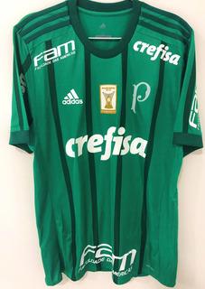 Camisa Palmeiras Usada Em Jogo Mina #26 Brasileiro 2017
