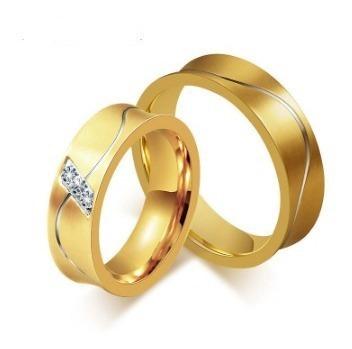 Par De Alianças Luxo Banhada A Ouro