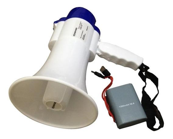 Mega Fone Mf-20 Soundvoice 20w Função Gravação Com Bateria