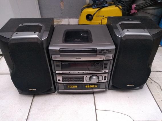 Leio O Anúncio Micr System Aiwa C/ Caixas Zr 800 S/ Controle